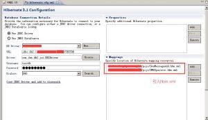 MyEclipse中如何配置hql调试工具,针对没有hibernate.cfg.xml的情况